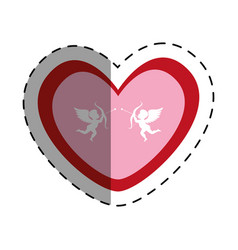 love card with cupid angel vector image