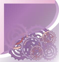 Mechanism system cogwheels vector