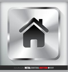 Metal Home Button vector