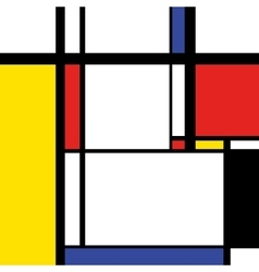 Modern painting in mondrian style square vector