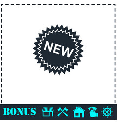 new icon flat vector image