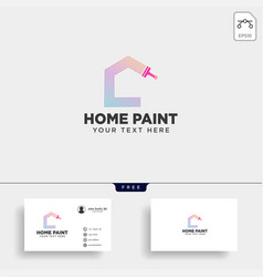 Paint brush colorful logo template icon element vector