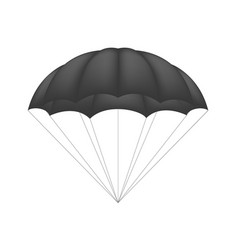 Parachute in black design vector