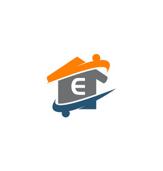 parenting life home care initial e vector image