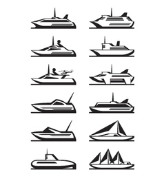 Passenger ships and yachts vector image