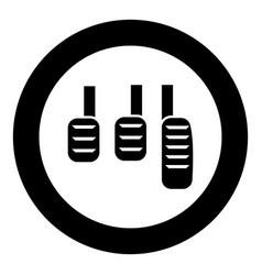 Pedal icon black color simple image vector