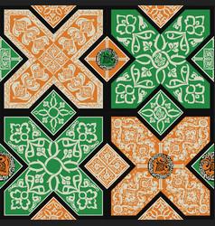Persian tile pattern vector