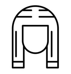 Pharaoh head icon outline style vector