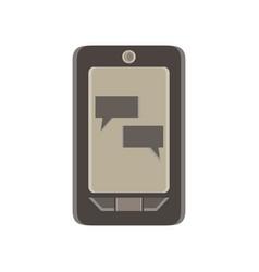phone chat message mobile text screen flat vector image