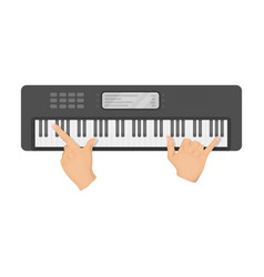 Playing on an electronic keyboard instrument vector