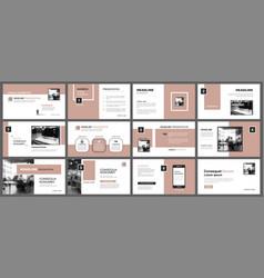 Presentation and slide layout template design old vector