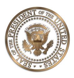 presidential seal - gold against white ai vector image