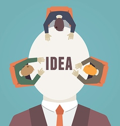 Process of human thinking Brainstorming vector image