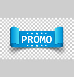 Promo ribbon icon discount sticker label on vector