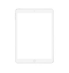 Realistic digital soft white tablet mock up vector