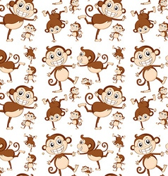 Seamless monkey vector image