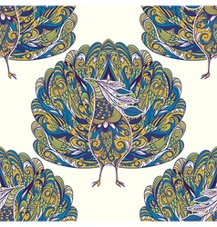 seamless pattern with peacock vector image