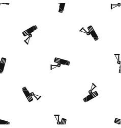 security camera pattern seamless black vector image