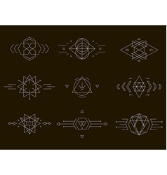 Set geometric icons vector