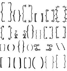 Set of brackets vector image