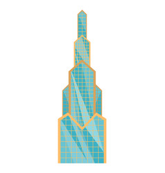 skyscraper building modern building flat office vector image