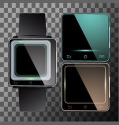 smart watch set vector image