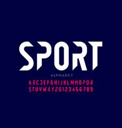 Sport style modern font vector