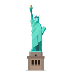 Statue of liberty in flat style vector