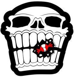Sweet tooth skull vector