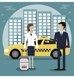 Taxi Cab Services vector