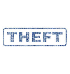 Theft textile stamp vector
