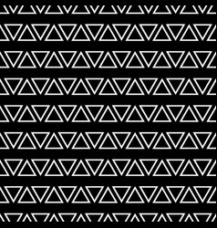 tile pattern with white triangles on black vector image