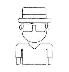 Tourist man avatar character vector