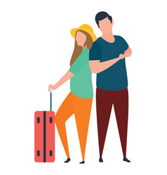 Tourists vector