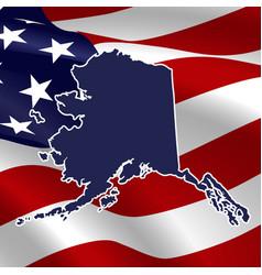 United states alaska vector