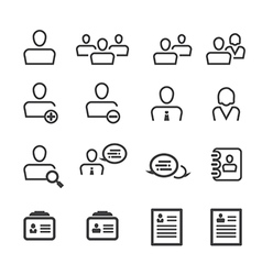 User icon line vector