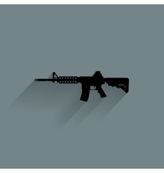 Weapon Silhouette Icon vector