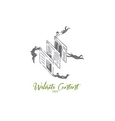 website content concept sketch isolated vector image