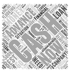What Is Cash Advance Now Word Cloud Concept vector