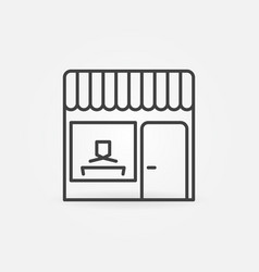 Work from cafe concept line icon or symbol vector