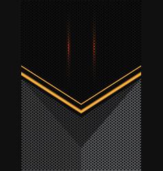 Yellow light arrow on gray black circle mesh 3d vector