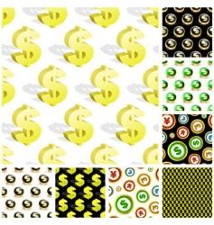 dollar seamless pattern vector image
