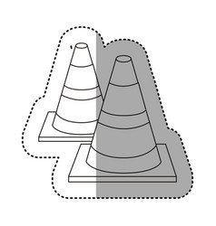 figure traffic cones icon vector image