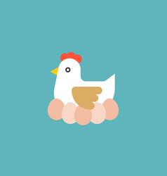 hen hatching egg vector image vector image