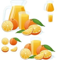 Orange Fresh set vector image vector image
