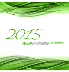 2015 wave green vector image vector image