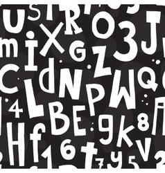 Alphabet black pattern vector image vector image