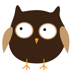 crazy funny owl hand drawn vector image vector image