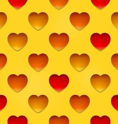 Hearts on beige vector image vector image