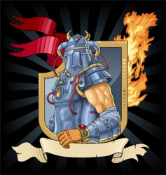 knight in armor vector image